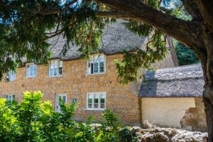 view of traditional Dorset village cottage