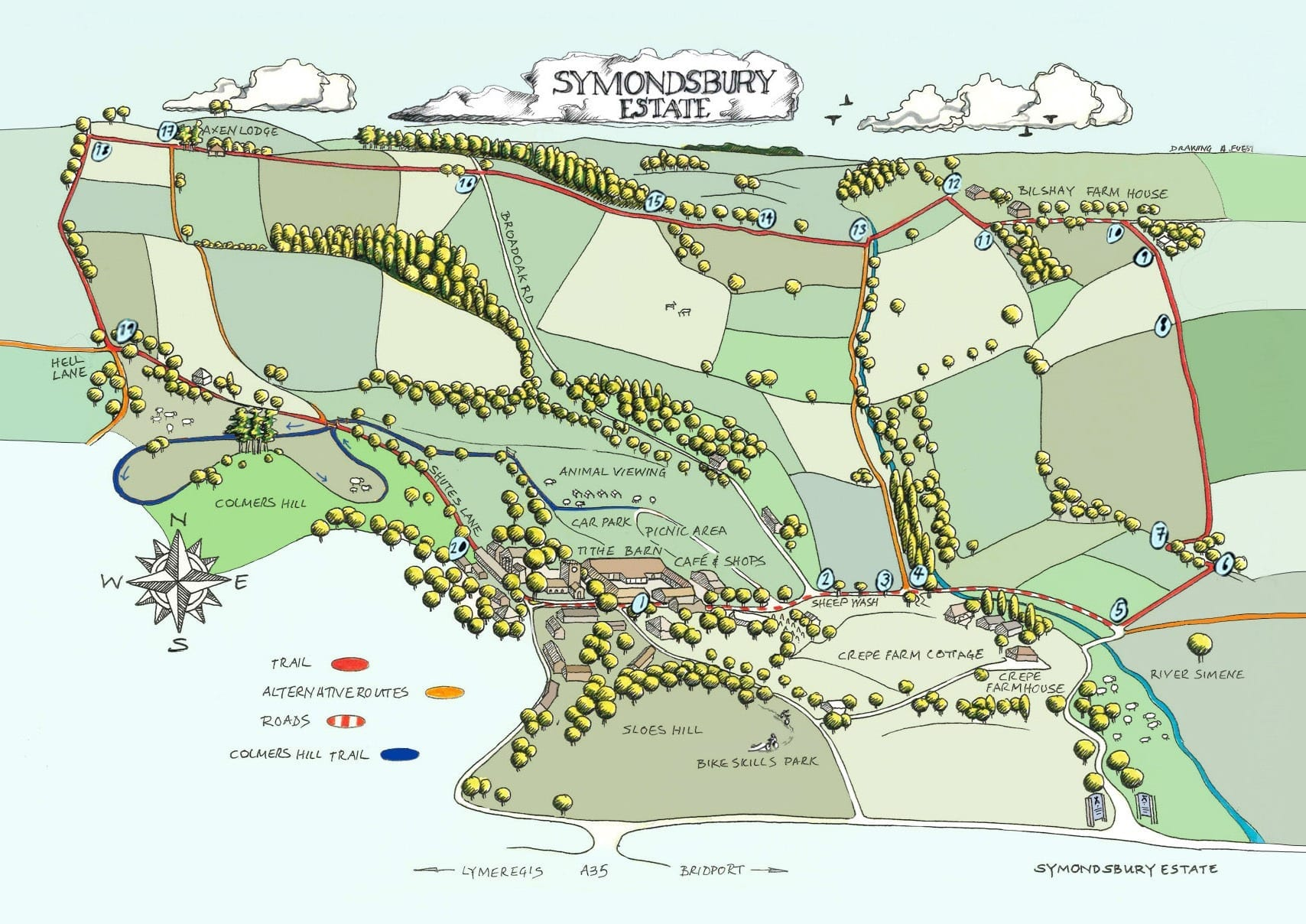 Symondsbury Estate Walking and Cycling Trail