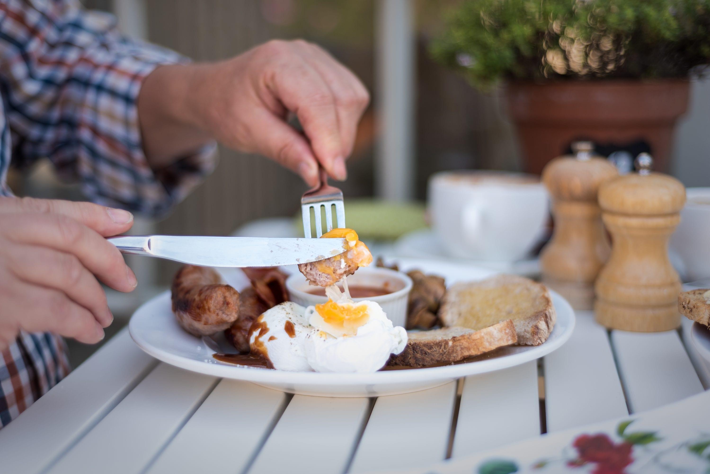 Farmers full English breakfast at Dorset cafe near Bridport