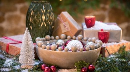 baubles, tealight holders and other Christmas products