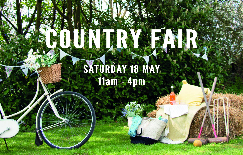 country fair Saturday 18 may 11am - 4pm