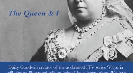 The Queen and I. An event with Daisy Goodwin on Monday 17th June in the Tithe Barn at Symondsbury Estate